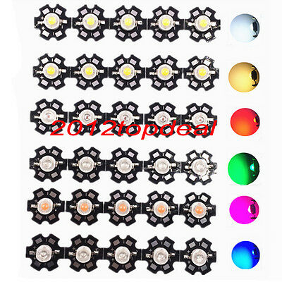 3W High Power LED Chip Light Beads White Warm red green UV IR emitting diode