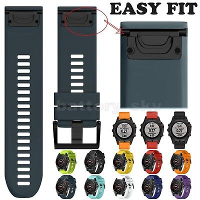 Repalcement Silicone Quick Install Band Strap +Tools For Garmin Fenix 5X Watch
