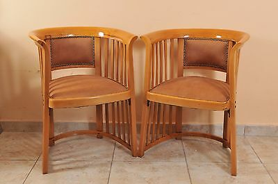 Pair of Jugendstil Thonet Armchair, Josef Hoffmann, c. 1905