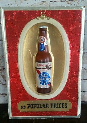 Vintage Pabst Blue Ribbon Beer At Popular Prices 3D Advertising Sign