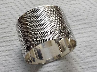 Antique Sterling Silver Napkin Ring by Birmingham Maker Bert Gordan 1917