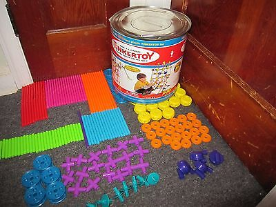 TINKERTOY Set of 191 Pieces Plastic with Box Tinker Toy