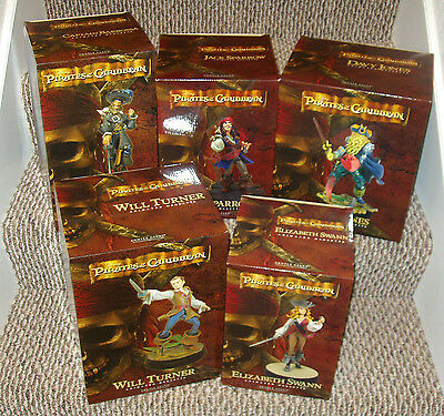 PIRATES OF THE CARIBBEAN Maquettes - All 5!! Jack Sparrow, Davy Jones, Barbossa