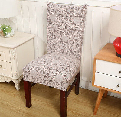 Removable elastic stretch slipcovers short dining room chair seat cover d cor picclick uk - Dining room chair covers uk ...