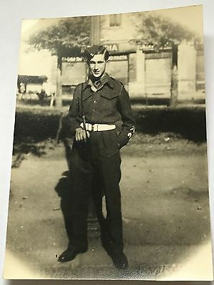 Photograph WW2 Monmouthshire 2nd Battalion Soldier in Italy Army 5