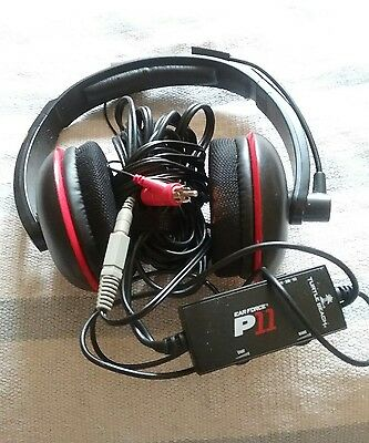 Turtle Beach Ear Force P11 Black/Red Headband Headsets for Multi-Platform