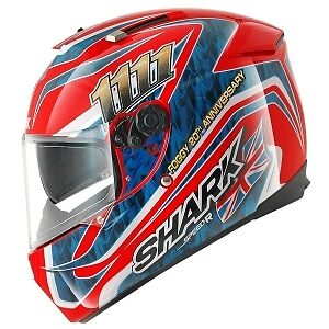 Shark Speed R Foggy Replica Motorcycle Full Face Helmet RBA Blue / Red NEW