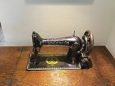 Vintage Singer Sewing Machine With Table 1908 To 1910