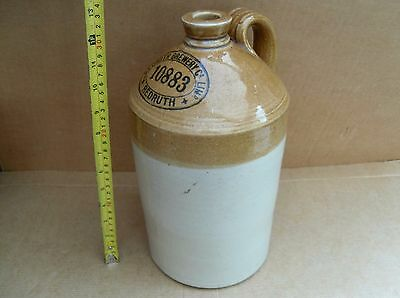VINTAGE REDRUTH BREWERY 10883 CORNWALL STONEWARE BEER BOTTLE FLAGON nr CAMBORNE