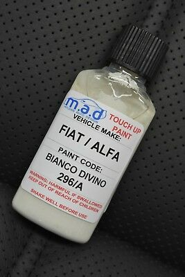 Fiat 296/A Bianco Divino Touch Up Kit Repair Kit Paint With Brush Scratch