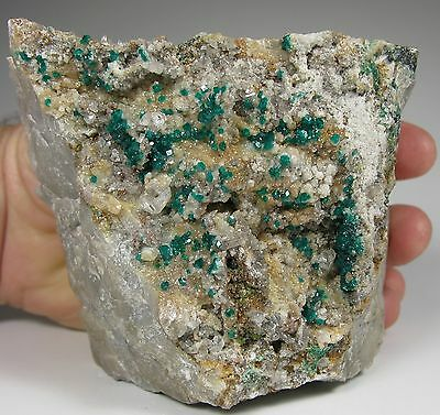 DIOPTASE crystals with Cerussite and Duftite * Tsumeb Mine * Namibia
