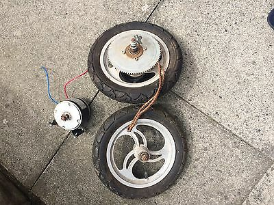 Electric Scooter Spares Wheels And 24 Volt Motor