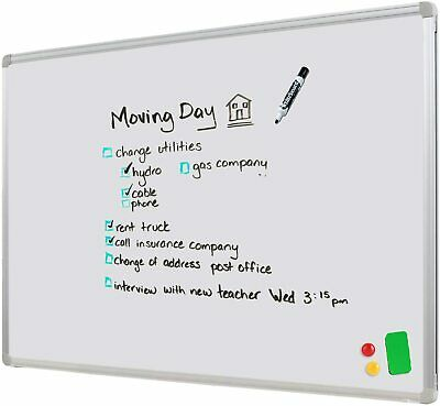 2 Way Wall Mounted Magnetic Whiteboard 60x90 cm with free gift