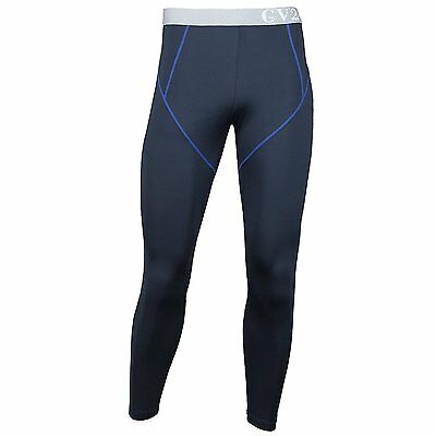 GV2 Mens Aero Warm Stretch Comfort Cold Weather Pants Bottom Leggings Navy L