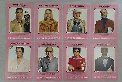 The Royal Tenenbaums - Rare full set of promo lobby cards