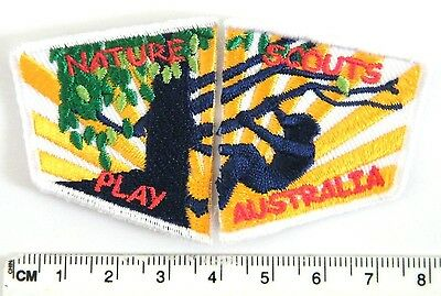 NATURE PLAY Scouts Australia, 2-section badge, A program Getting Kids Outdoors