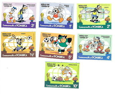 Walt Disney Stamps: Commonwealth of Dominica Spain World Cup 1982 (sellos)
