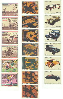 Stamps from Paraguay - three series 1986 (sellos)