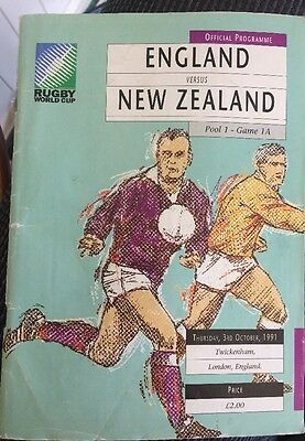 Rugby World Cup 1991: England V New Zealand Opening Game Programme