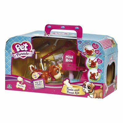 Pet Parade Train & Treat Kit Kids Playset With Bulldog Puppy And Accessories