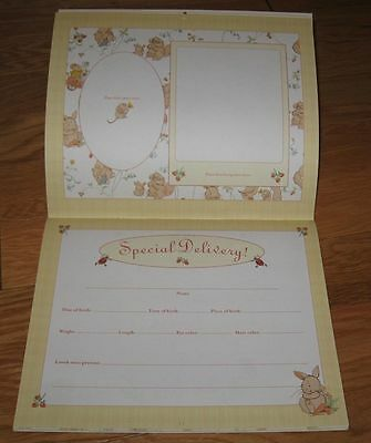 Never Used record BABY'S First Year keepsake Calendar stickers BUNNIES Squirrels