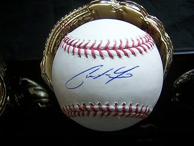 Christian Yelich Autographed Baseball, Miami Marlins Outfielder