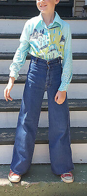 Super Cool Vintage Levis 70's Texas Riders Bell Bottoms Kids sz 10/11