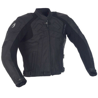 Richa Rotar Motorcycle Motorbike Leather Sports Jacket Black  NEW