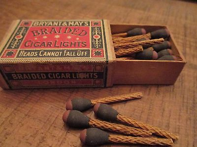 Early 20th Century Bryant and May Braided Cigar Lights (last one)