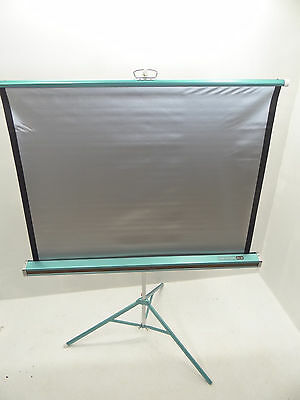 Vintage Used Da-Lite Silver-Lite 3 Foot Wide Tripod Projector Movie Screen Old