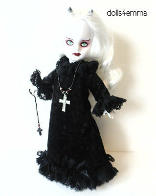 Living Dead Doll Clothes Goth Gown Cross Necklace + Ornament Fashion NO DOLL d4e