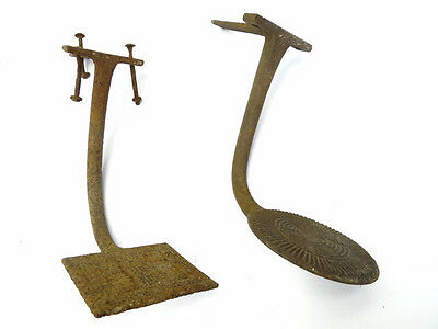 Two Antique Old Metal Cast Iron Victorian Buggy Carriage Wagon Step Ups Parts
