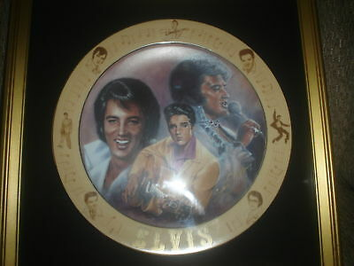 "Elvis 'the Special Request' Susie Morton Plate & 2 'always Elvis"" Wine Bottles"