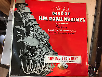 MUSIC BY THE BAND OF H.M. ROYAL MARINES Album Vinyl LP - HIS MASTERS VOICE 1016