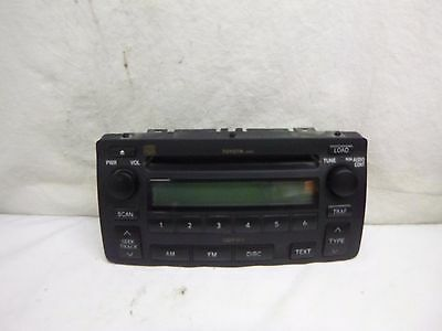 03-08 Toyota Corolla Radio 6 Disc Cd Face Plate A51814 86120-02440 SW61110