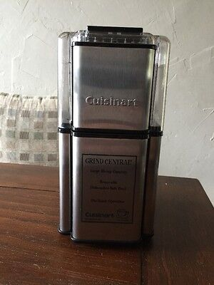 Cuisinart DCG-12BC Grind Central Coffee Grinder - STAINLESS STEEL EUC