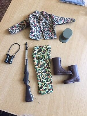 Vintage Action Man Camouflage Soldier Uniform