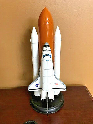 Lockheed Martin Space Shuttle Columbia STS-107 Wood Desk Model 1/200 - Very Rare