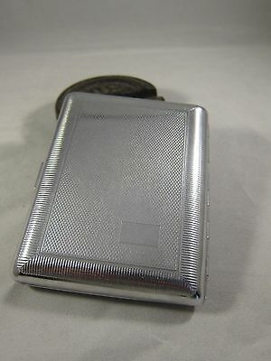 Vintage Tobacco Cigarette Case Silver Color Pocket Original Emu England