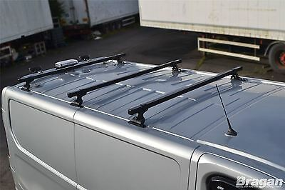 To Fit 02-14 Opel Vauxhall Vivaro Steel Roof Rack Bars 3 Bar System + Load Stops