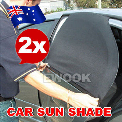 2x Car Rear Side Window Sun Shade Mesh SUV UV Protection Large pair