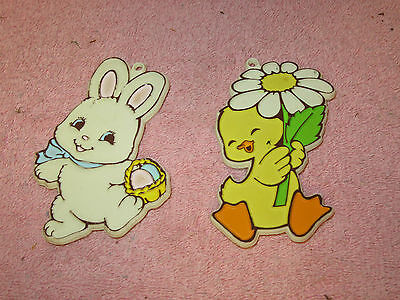 Vintage Painted Hallmark Easter Cookie Cutters - Chick & Bunny