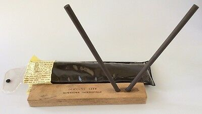 Vintage Crock Stick Ceramic Sharpener kit with Case