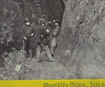 1860s Stereoview Photo Shanklin Chine Isle Of Wight