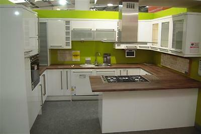 Ex Display Hygena Kitchens Sanvitto Cream Cabinets - Delivery available