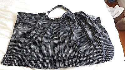 Bebe Chic breast feeding cover, black with white spots, with bag.