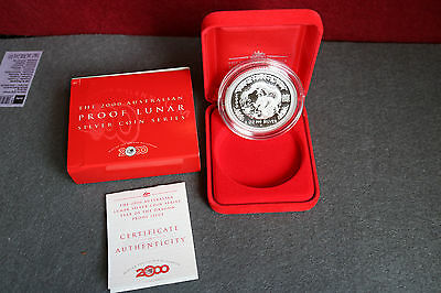 2 OZ Lunar 1 PP Proof Drache Dragon Australia Perth Mint Jahr 2000
