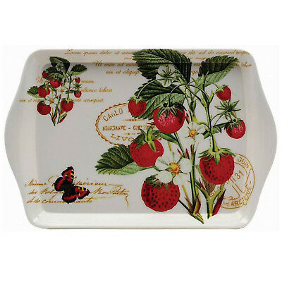 Strawberry Fayre Small Rectangle Melamine Tea Coffee Snack Food Serving Tray