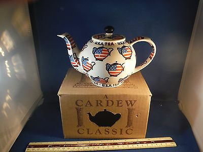 "New Cardew Classics Made In England ""U.S.A Tea"" Teapot"
