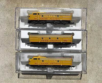 Z Scale Marklin UP Union Pacific F7 A-B-A all units powered unlike 8832